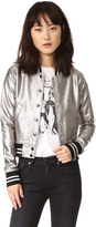 R 13 Shrunken Metallic Jacket