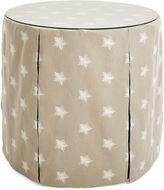 One Kings Lane Collection Eden Round Skirted Table, Khaki/Ivory