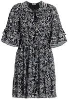 Parker Lindsay Flutter-Sleeve Dress
