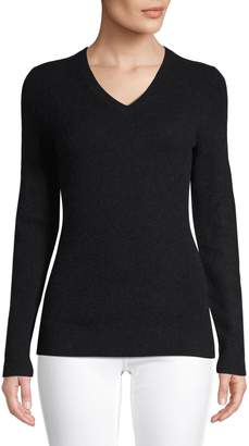 Lord & Taylor Cashmere V-Neck Sweater