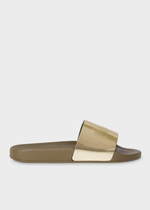 Paul Smith Women's Gold 'Rubina' Slides