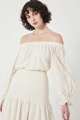 Witchery Lace Off Shoulder Blouse