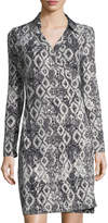 Romeo & Juliet Couture Graphic-Print Wrap Dress