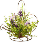 National Tree 11.5In Lavender Iron Kettle Decor