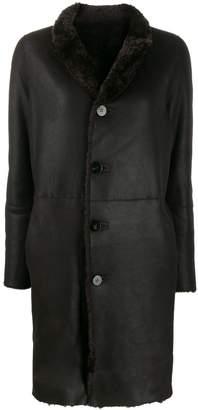 Giorgio Brato shearling button coat