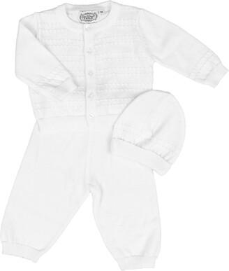Little Things Mean a Lot Cotton Cardigan, Pants & Hat Set