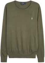 Polo Ralph Lauren Olive Cotton Blend Jumper