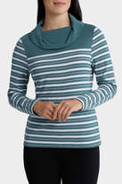 Stripe Roll Neck Long Sleeve Sweat Top
