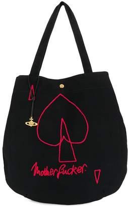 Vivienne Westwood slogan print tote bag