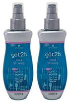 Got2b Mind Blowing - Ionic Power Xpress Dry Styling Spray - Net Wt. 6 FL OZ (177 mL) Each - Pack of 2