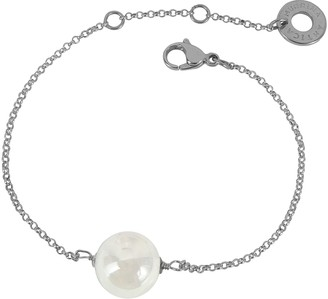 Antica Murrina Veneziana Perleadi White Murano Glass Bead Chain Bracelet