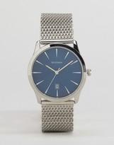 Sekonda Silver Mesh Bracelet Watch With Blue Dial
