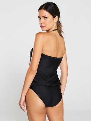 Very Essentials Blouson Swimsuit - Black