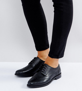 Mojito Asos Design ASOS Wide Fit Leather Brogues-Black