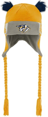 Outerstuff Preschool Gold Nashville Predators Wordmark Ears Trooper Knit Trapper Hat