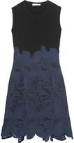 Antonio Berardi Stretch-knit and guipure lace mini dress