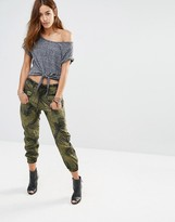 G Star G-Star Camo Pants With Fishbone Print