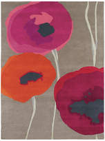 Sanderson Poppies Red/Orange Rug - 200x280cm