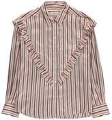 Masscob Striped Ruffle Shirt