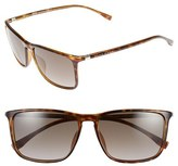 BOSS Men's 57Mm Retro Sunglasses - Havana/ Brown Gradient