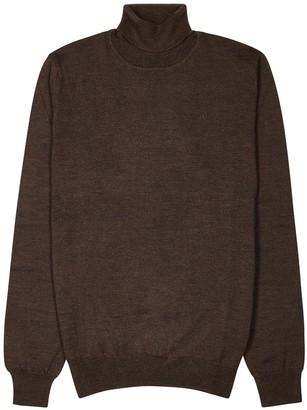 J. Lindeberg Brown roll-neck wool jumper