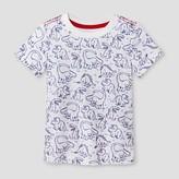 Cat & Jack Toddler Boys' 3D Dinosaur Printed Graphic T-Shirt - Cat & Jack White