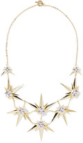Noir Orionis gold-tone crystal necklace