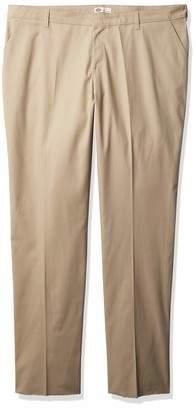 Dickies Women's Plus-Size Wrinkle Resistant Flat Front Twill Pant with Stain Finish