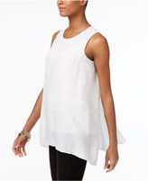 Alfani Handkerchief-Hem Trapeze Blouse, Created for Macy's