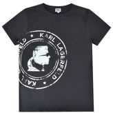 Karl Lagerfeld Junior Boys Stamp Logo T Shirt