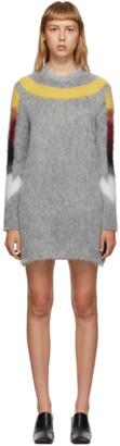 Off-White Grey Fuzzy Arrows Dress