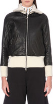 Aalto Contrast-trim leather jacket