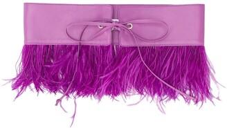ATTICO Feather Embellished Belt