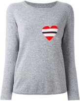 Chinti and Parker striped heart logo sweater