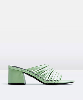 Alice In The Eve The Kate Strappy Block Heel Mint Green
