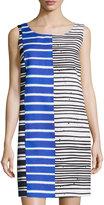 Lafayette 148 New York Drita Striped Sleeveless Shift Dress, Ink/Multi