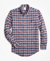 Brooks Brothers Non-Iron Madison Fit Heathered Plaid Sport Shirt