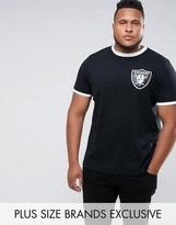 Majestic Plus Raiders Ringer T-shirt