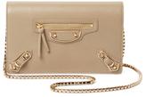 Balenciaga Metallic Edge Leather Wallet On A Chain