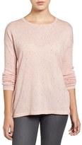 Halogen Slit Back Nep Yarn Sweater (Regular & Petite)