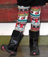 Beary Basics Red & White Snowman Leggings - Toddler & Girls