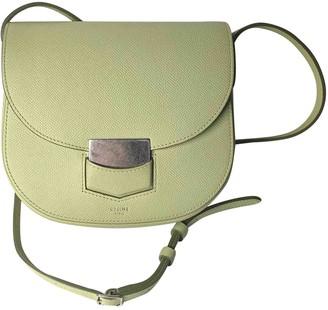 Celine Trotteur Green Leather Handbags