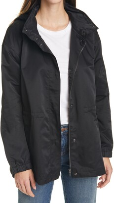 Eileen Fisher Stand Collar Hooded Jacket