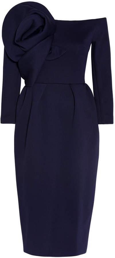 DELPOZO Neoprene Off-Shoulder Dress