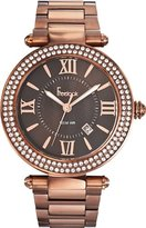 Freelook Unisex HA1542BMRG-2 Cortina XL Oversized Analog Chocolate Color Stainless Steel Roman Numeral Dial Watch