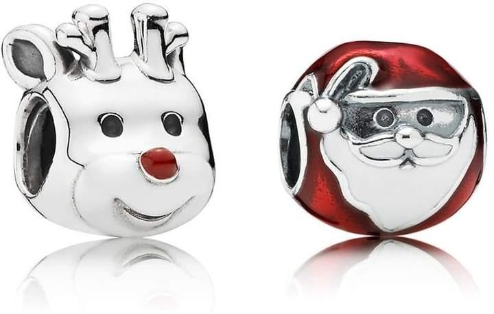Pandora Santa & Rudolph Charm Set