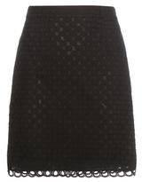 Carven Cotton Broderie Anglaise Miniskirt