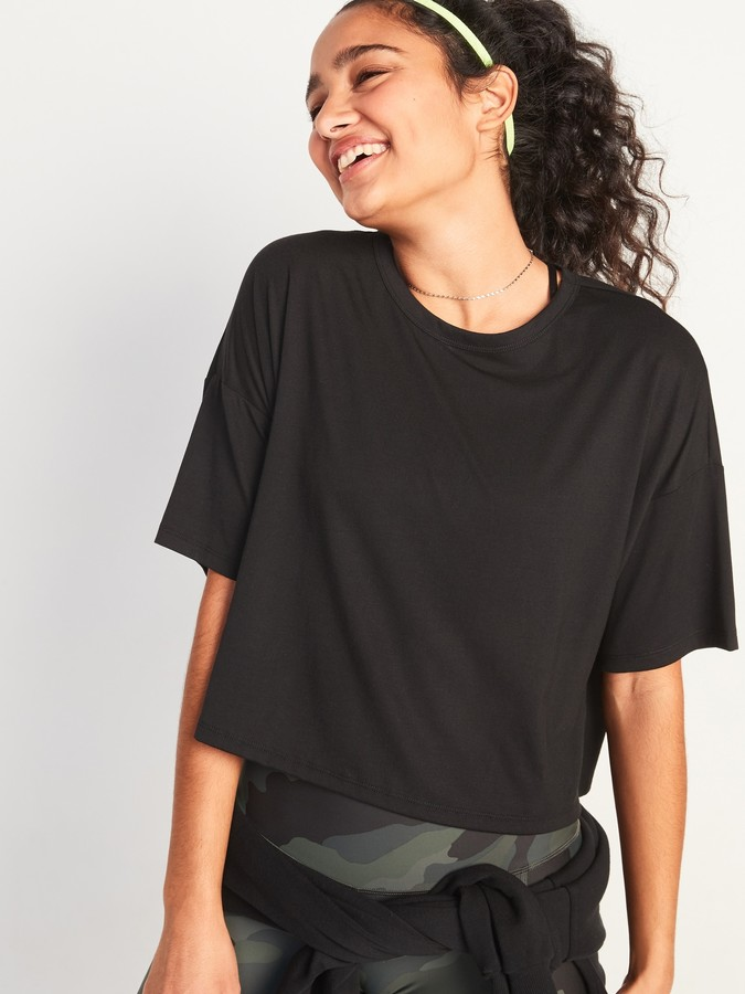 Thumbnail for your product : Old Navy UltraLite All-Day Performance Crop Tee for Women