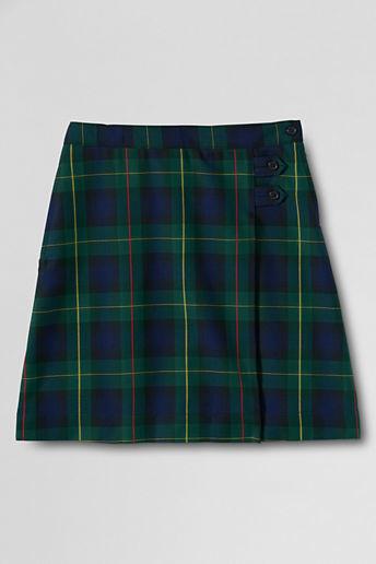 Lands' End Women's Plaid A-line Skirt (Below The Knee)