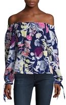 Yumi Kim Aloha Printed Off Shoulder Blouse
